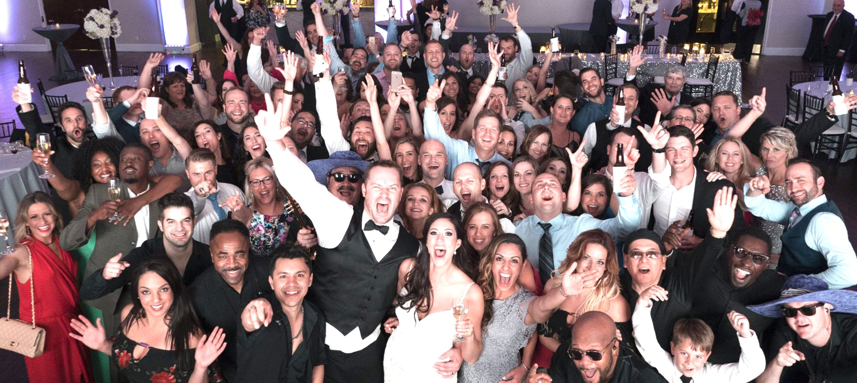 wedding slider happy crowd